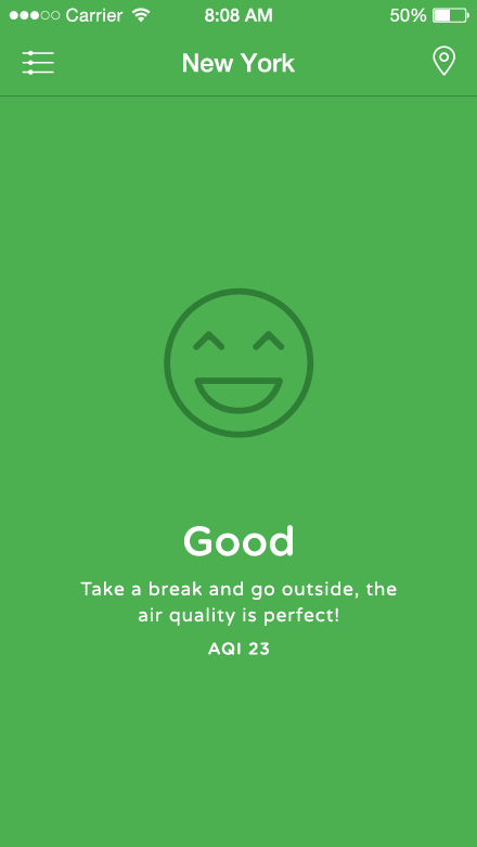 Airbient project - Good air quality