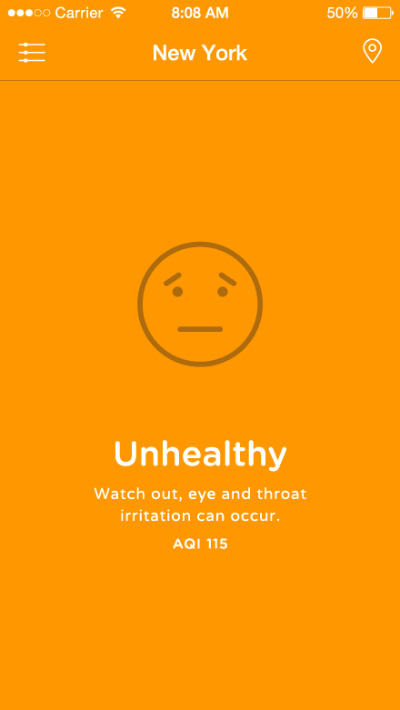 Airbient project - Unhealthy air quality