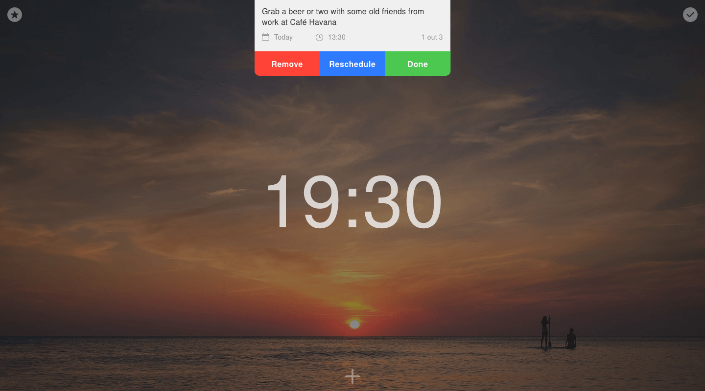 Launch project - Task notification